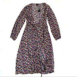 🌸🌵🌼New Look | Long Sleeve Floral Wrap Dress 8